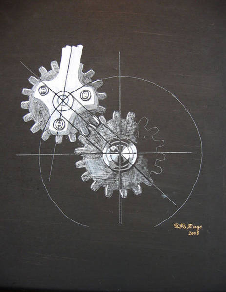 Painting - Gears No1 by Richard Le Page