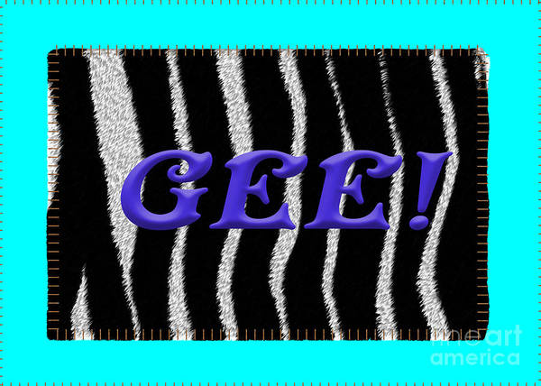 Digital Art - Gee 2 Zebra Fur by Donna L Munro
