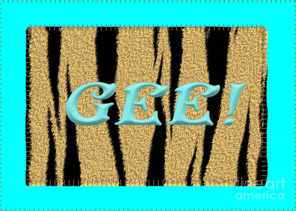 Digital Art - Gee 3 Tiger  by Donna L Munro