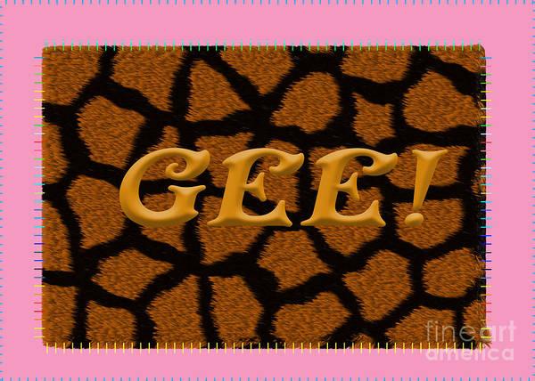 Digital Art - Gee 7 Giraffe Pattern by Donna L Munro
