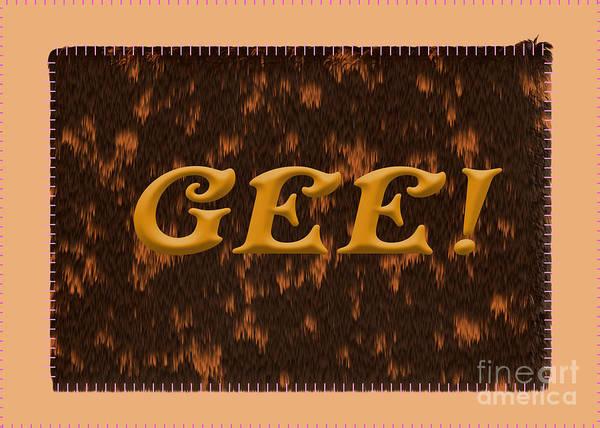 Digital Art - Gee 6 Tortoise Shell Cat by Donna L Munro