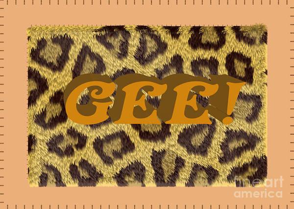 Digital Art - Gee 1 Cheetah by Donna L Munro