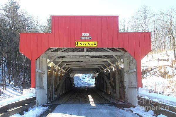 Photograph - Geiger's Covered Bridge  by Ken Keener