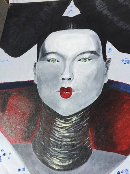 Painting - Geisha 1999a011 by Lino Vicente
