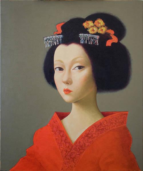 Wall Art - Painting - Geisha 3 by Ilir Pojani