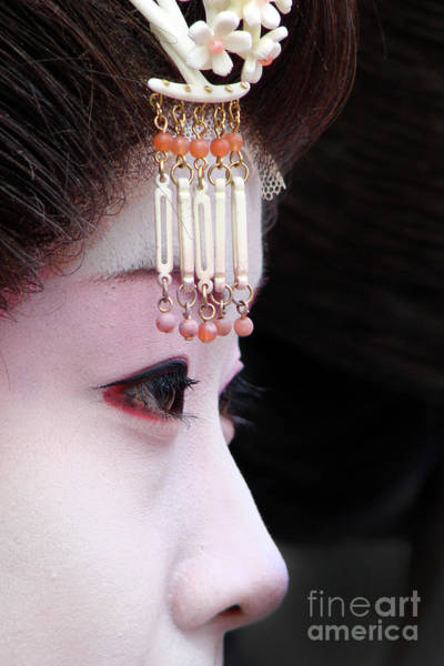 Nose Photograph - Geisha by Delphimages Photo Creations