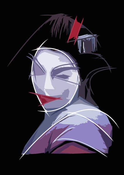 Subjective Digital Art - Geisha by Luca Esposito