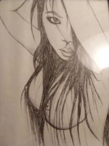 Nipples Drawing - Geisha by Michael Toth