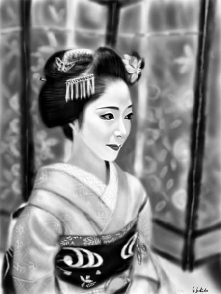 Painting - Geisha No.118 by Yoshiyuki Uchida