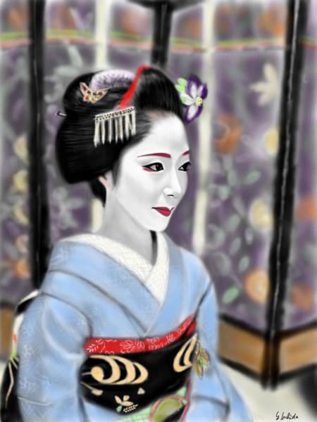 Painting - Geisha No.119 by Yoshiyuki Uchida