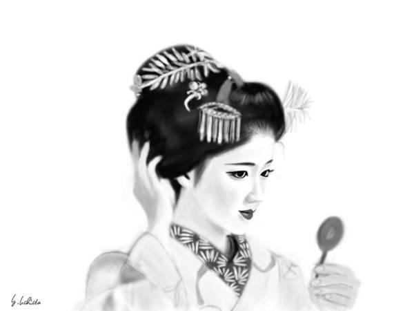 Painting - Geisha No.134 by Yoshiyuki Uchida