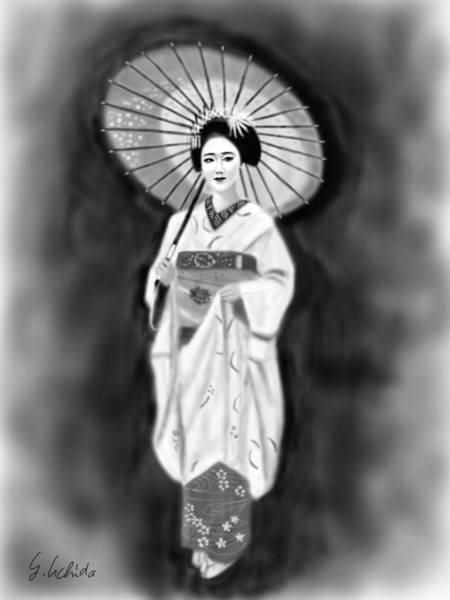 Painting - Geisha No.136 by Yoshiyuki Uchida