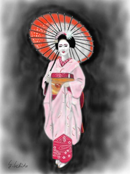 Painting - Geisha No.137 by Yoshiyuki Uchida