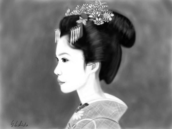 Painting - Geisha No.138 by Yoshiyuki Uchida