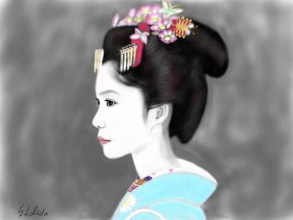 Painting - Geisha No.139 by Yoshiyuki Uchida