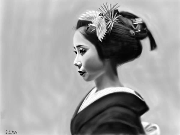 Painting - Geisha No.140 by Yoshiyuki Uchida
