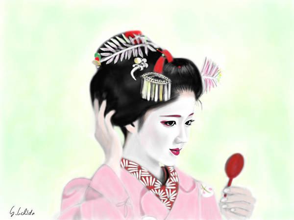 Painting - Geisha No.142 by Yoshiyuki Uchida