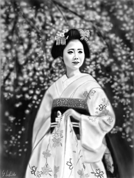 Painting - Geisha No.146 by Yoshiyuki Uchida