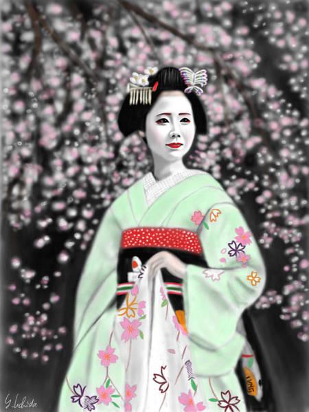 Painting - Geisha No.147 by Yoshiyuki Uchida