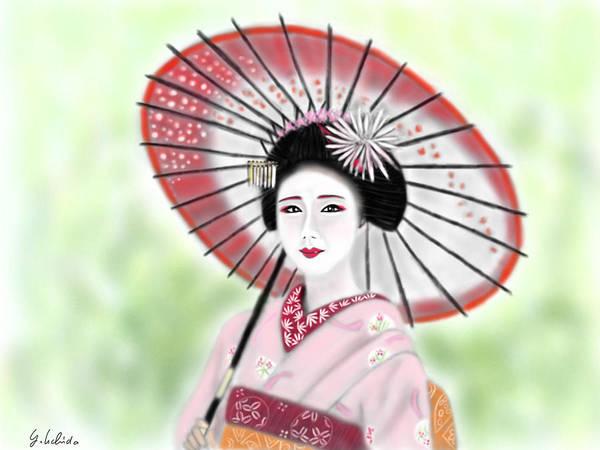 Painting - Geisha No.149 by Yoshiyuki Uchida