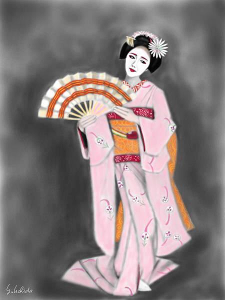Painting - Geisha No.188 by Yoshiyuki Uchida