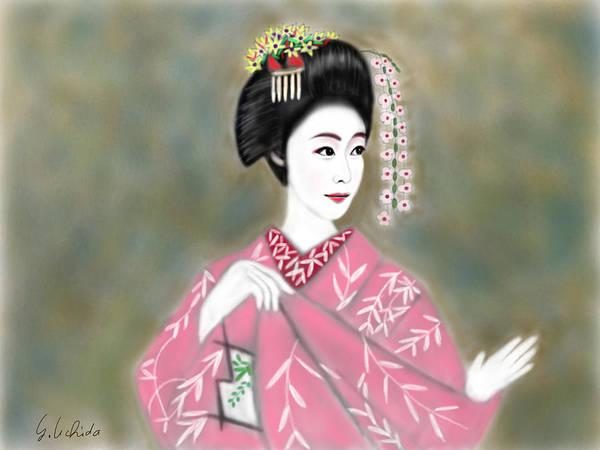 Painting - Geisha No.221 by Yoshiyuki Uchida