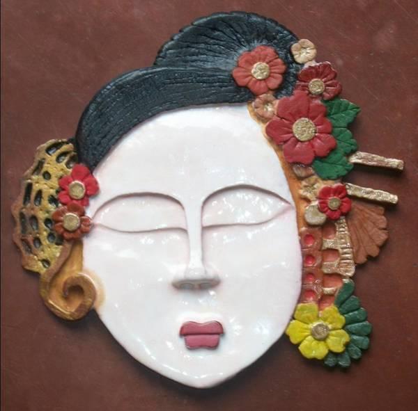 Geisha Mixed Media - Geisha  by Otil Rotcod