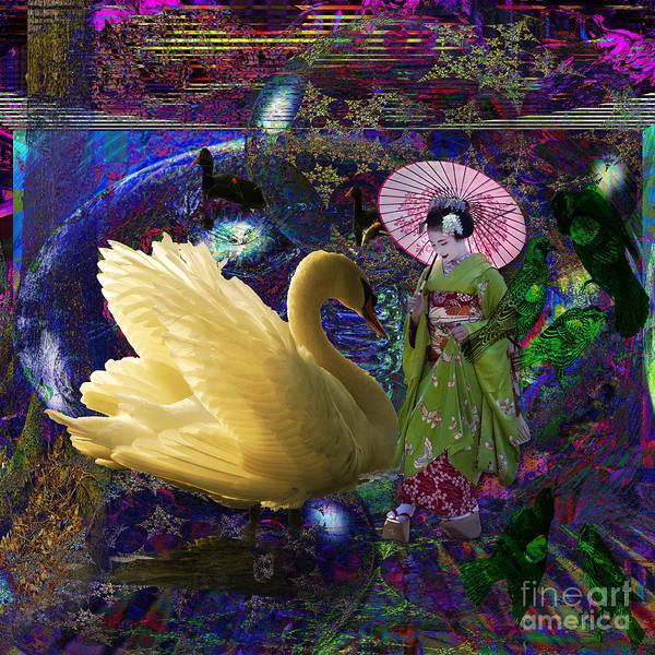 Japanese Poetry Painting - Geisha Wonderland by Joseph Mosley