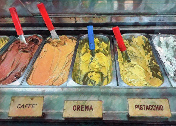 Photograph - Gelato Display In Italy by Gary Slawsky