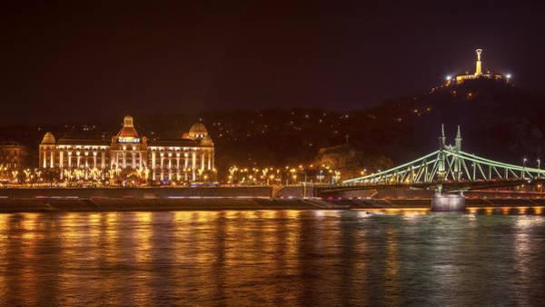 Buda Photograph - Gellert Baths And Liberty Bridge by Joan Carroll