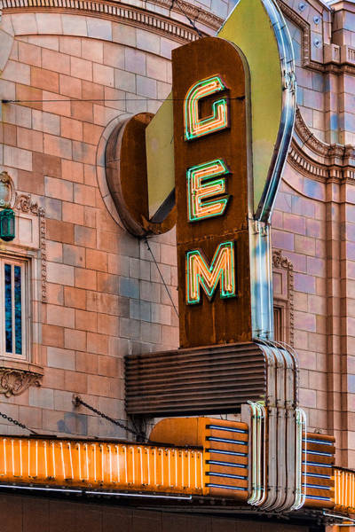 African American Museum Photograph - Gem Theater In Kansas City by Steven Bateson