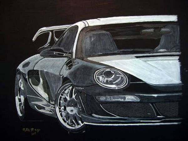 Painting - Gemballa Porsche Right by Richard Le Page