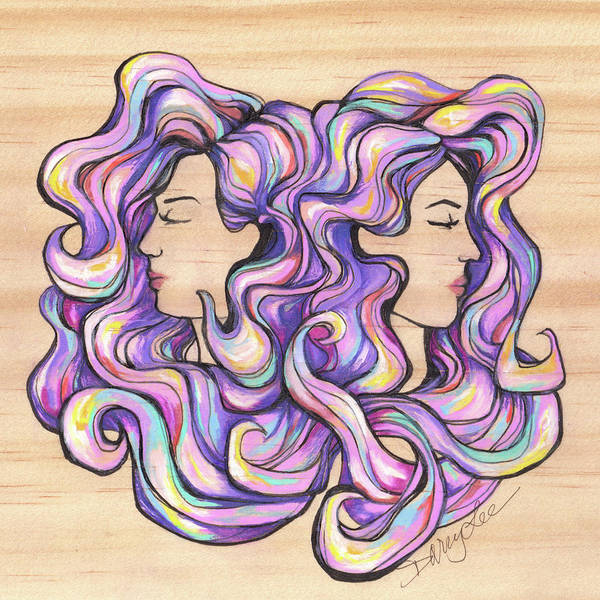 Painting - Gemini - I Think by Darcy Lee Saxton