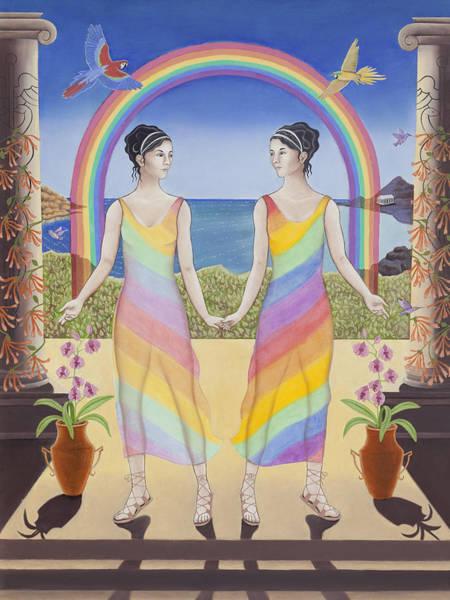 Twins Painting - Gemini / Iris And Arke by Karen MacKenzie