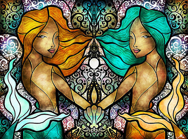 Digital Art - Gemini by Mandie Manzano