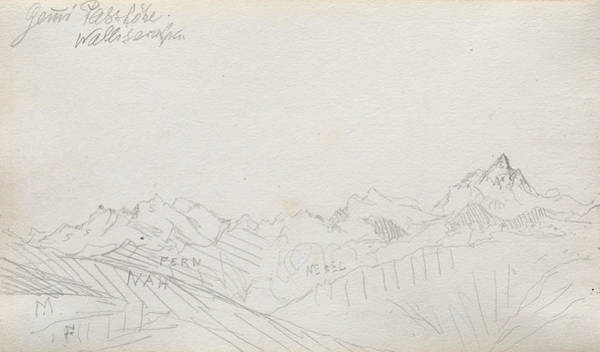 Drawing - Gemmi Pass, Valais Alps by Paul Klee
