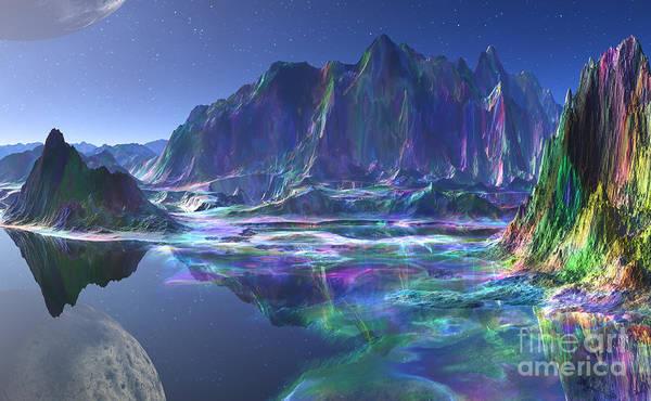 Wall Art - Mixed Media - Gemstone Mountain  by Heinz G Mielke