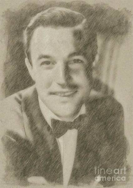 Wizard Drawing - Gene Kelly, Actor And Dancer by Frank Falcon