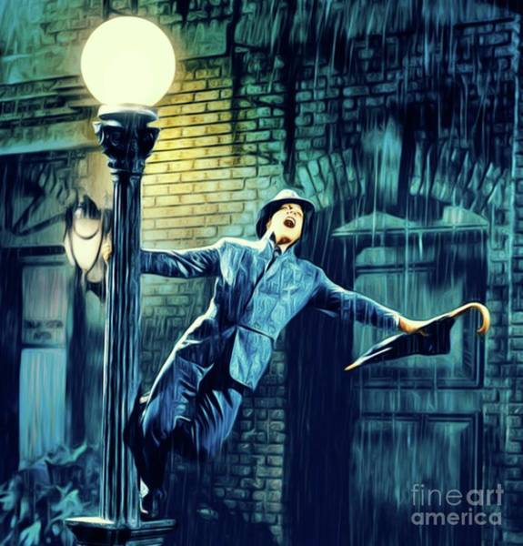 Wall Art - Digital Art - Gene Kelly, Singing In The Rain by Mary Bassett
