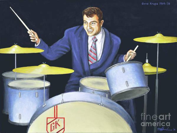 Benny Painting - Gene Krupa by Michael Haslam
