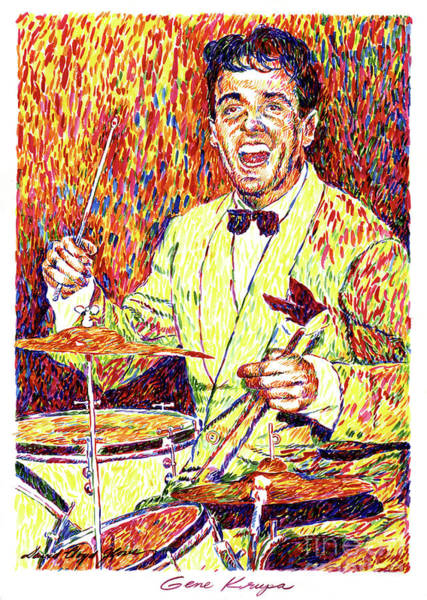 Wall Art - Painting - Gene Krupa The Drummer by David Lloyd Glover