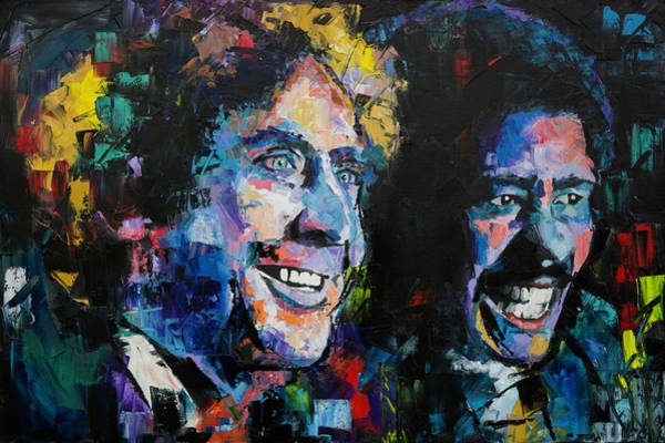 Wall Art - Painting - Gene Wilder And Richard Pryor by Richard Day