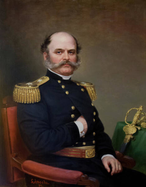 Wall Art - Painting - General Ambrose Burnside Painting by War Is Hell Store