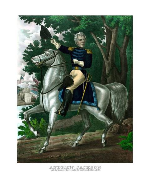 Wall Art - Painting - General Andrew Jackson On Horseback by War Is Hell Store