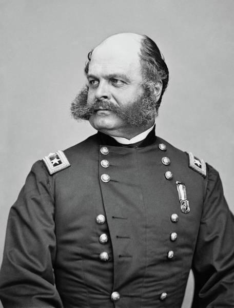 Civil War Photograph - General Burnside - Civil War by War Is Hell Store