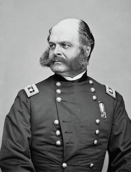 Civil Photograph - General Burnside - Civil War by War Is Hell Store