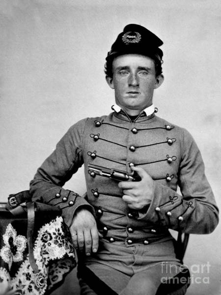 General Custer At West Point Ca 1859 Art Print