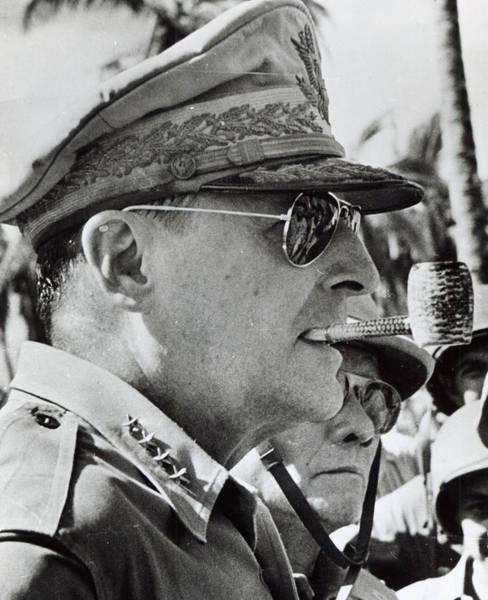 Forties Photograph - General Douglas Macarthur, 1944 by American School