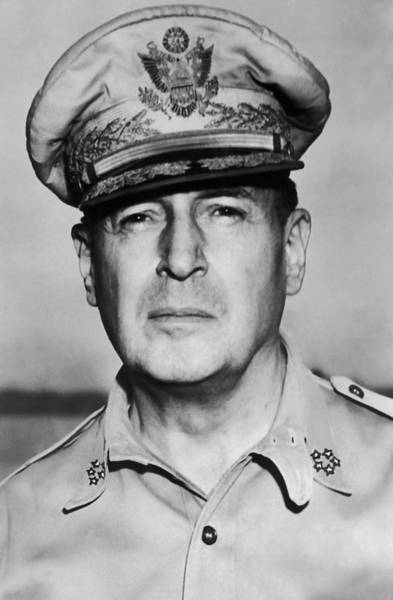 The Philippines Photograph - General Douglas Macarthur Portrait by War Is Hell Store