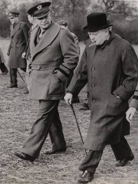 Wall Art - Photograph - General Dwight Eisenhower, And Prime by Everett